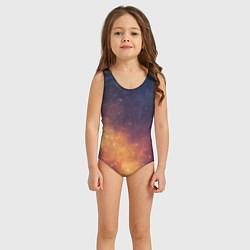 Купальник для девочки Космос цвета 3D — фото 2