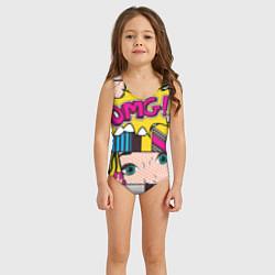 Купальник для девочки POP ART цвета 3D — фото 2