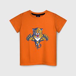 Футболка хлопковая детская Florida Panthers цвета оранжевый — фото 1