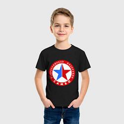 Футболка хлопковая детская Федерация САМБО цвета черный — фото 2