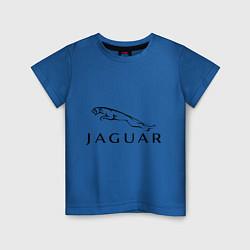 Футболка хлопковая детская Jaguar цвета синий — фото 1