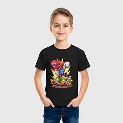 Футболка хлопковая детская Mario Rage цвета черный — фото 2