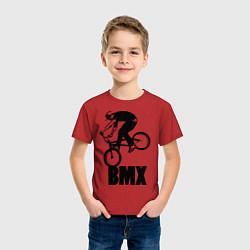 Футболка хлопковая детская BMX 3 цвета красный — фото 2