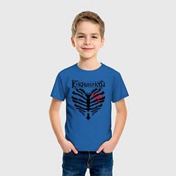 Футболка хлопковая детская Кукрыниксы цвета синий — фото 2