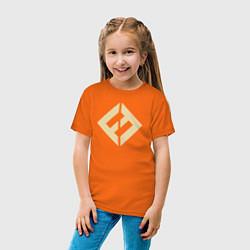 Футболка хлопковая детская Concrete & Gold цвета оранжевый — фото 2