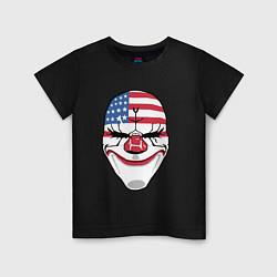 Футболка хлопковая детская American Mask цвета черный — фото 1