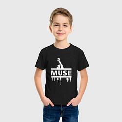 Футболка хлопковая детская Muse цвета черный — фото 2