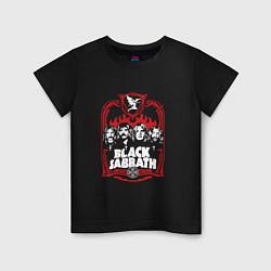 Футболка хлопковая детская Black Sabbath Collective цвета черный — фото 1