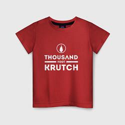Футболка хлопковая детская Thousand Foot Krutch цвета красный — фото 1