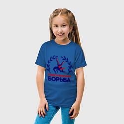 Футболка хлопковая детская Греко-римская борьба цвета синий — фото 2