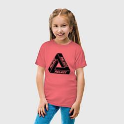 Футболка хлопковая детская Palace Triangle цвета коралловый — фото 2