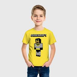 Футболка хлопковая детская Minecraft Batman цвета желтый — фото 2
