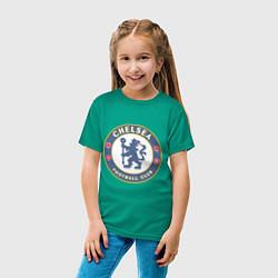 Футболка хлопковая детская Chelsea FC цвета зеленый — фото 2