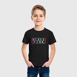 Футболка хлопковая детская Black Pink Rainbow цвета черный — фото 2