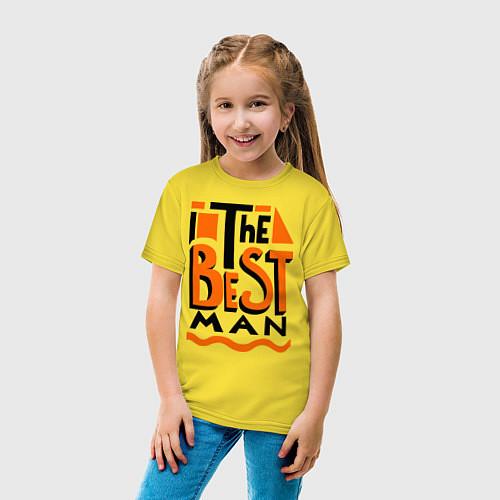 Детская футболка The best man / Желтый – фото 4