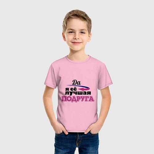 Детская футболка Её лучшая подруга / Светло-розовый – фото 3