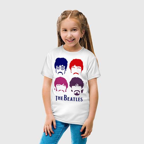 Детская футболка The Beatles faces / Белый – фото 4