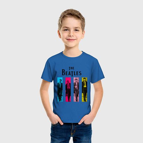 Детская футболка Walking Beatles / Синий – фото 3