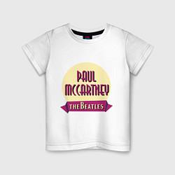 Футболка хлопковая детская Paul McCartney: The Beatles цвета белый — фото 1