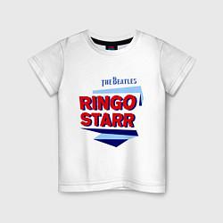 Футболка хлопковая детская Ringo Starr: The Beatles цвета белый — фото 1