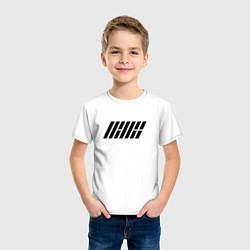 Футболка хлопковая детская IKON цвета белый — фото 2