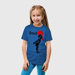 Футболка хлопковая детская Soul Mate: Boy цвета синий — фото 2
