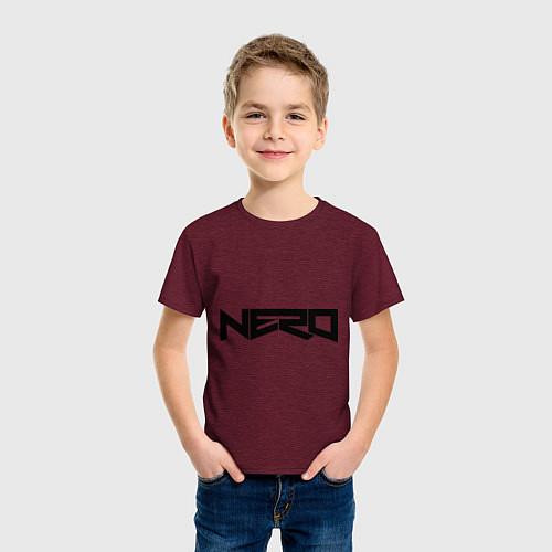 Детская футболка Nero / Меланж-бордовый – фото 3