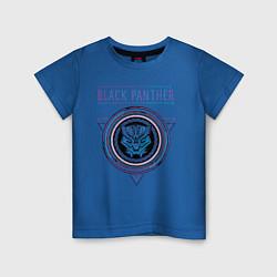 Футболка хлопковая детская Черная пантера цвета синий — фото 1