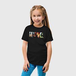 Футболка хлопковая детская Marvel Comics цвета черный — фото 2