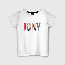 Футболка хлопковая детская Jony Аллея цвета белый — фото 1