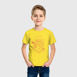 Футболка хлопковая детская Ты меня пленила цвета желтый — фото 2