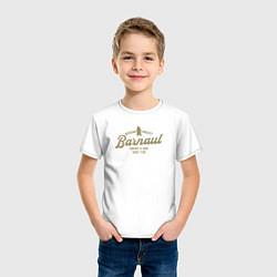 Футболка хлопковая детская Барнаул цвета белый — фото 2