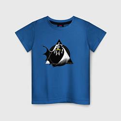 Футболка хлопковая детская Batman цвета синий — фото 1