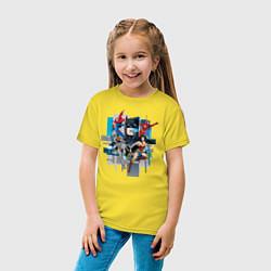 Футболка хлопковая детская Лига Справедливости цвета желтый — фото 2