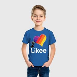 Футболка хлопковая детская Likee LIKE Video цвета синий — фото 2