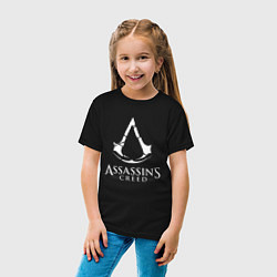 Футболка хлопковая детская Assassin's Creed цвета черный — фото 2