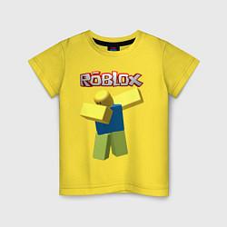 Футболка хлопковая детская Roblox Dab цвета желтый — фото 1