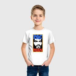 Футболка хлопковая детская Pac Man цвета белый — фото 2