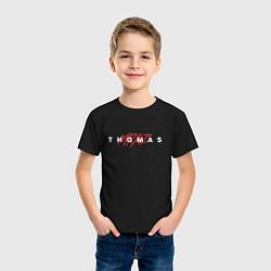 Футболка хлопковая детская Thomas Mraz цвета черный — фото 2