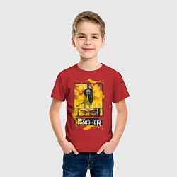 Футболка хлопковая детская The Punisher цвета красный — фото 2