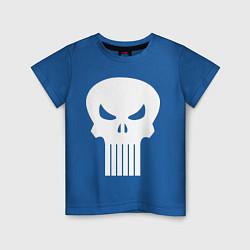 Футболка хлопковая детская The Punisher Череп цвета синий — фото 1