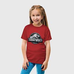Футболка хлопковая детская Jurassic World цвета красный — фото 2