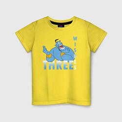 Футболка хлопковая детская Джинн цвета желтый — фото 1