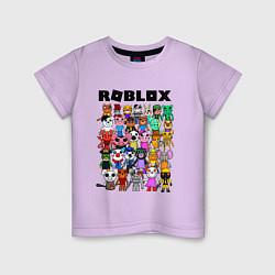 Футболка хлопковая детская ROBLOX PIGGY цвета лаванда — фото 1