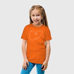 Футболка хлопковая детская Макс Барских: Моя любовь цвета оранжевый — фото 2