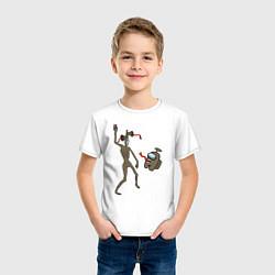 Футболка хлопковая детская Siren Head & Impostor цвета белый — фото 2
