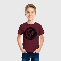 Футболка хлопковая детская MMA цвета меланж-бордовый — фото 2