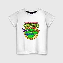 Футболка хлопковая детская Ninja Turtles цвета белый — фото 1