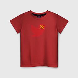 Футболка хлопковая детская Team Trump цвета красный — фото 1