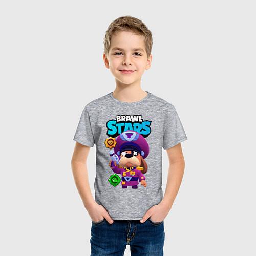 Детская футболка Генерал Гавс brawl stars / Меланж – фото 3